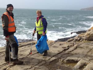 Love Langton in collaboration with the National Trust at Dancing Ledge - Great British Spring Clean 2018.