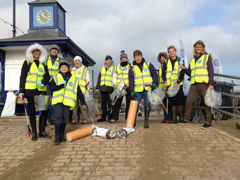 Litter-Free Purbeck team on Swanage Beach