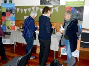 Getting the message out there - our stand at Langton Matravers Village Hall 16th May 2017.