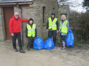 Harman's Cross About Litter doing their bit for the Great British Spring Clean 2018.