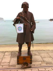 Pirate in Swanage with LFP donation bucket