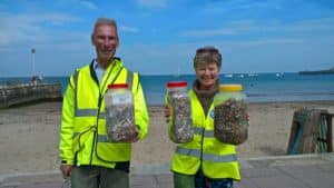 Some of the Butts saved from entering the sea - Blitz The Butts Swanage 18th May 2019