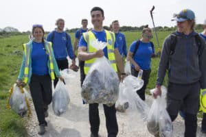 Land & Wave joined Love Langton and the National Trust to give Dancing Ledge and Hedbury Quarry a Spring Clean 29th April 2019